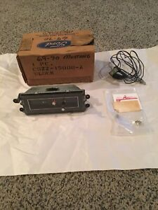 1969 Mustang Nos Standard Panel Interior Dash Clock With Wiring Harness 1970