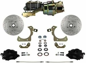 Leed Brakes Fc1010 k1a1x Front Disc Brake Kit W Factory Spindles Chevy Tri five