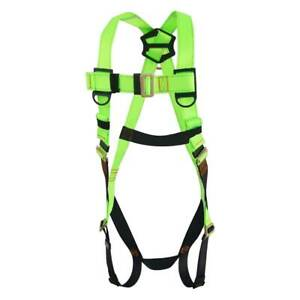 45mm Fall Protection Safety Harness Lanyard Construction Roofing Combo Kit Green
