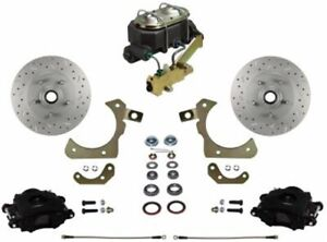 Leed Brakes Fc1010 3a3x Front Disc Brake Kit W Factory Spindles Chevy Tri five
