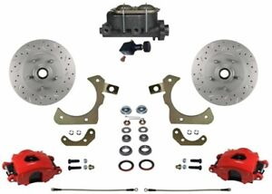 Leed Brakes Rfc1010 305x Front Disc Brake Kit W Factory Spindles Chevy Tri five