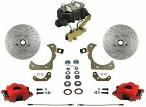 Leed Brakes Rfc1010 3a1x Front Disc Brake Kit W Factory Spindles Chevy Tri five