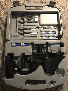 Vivitar Die cast Metal Microscope 300x 600x 1200x Kit In Hard Storage Case