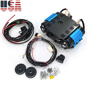 Ckmta12 High Output Twin Air Compressor Kit For Universal 12 Volt 12v On Board
