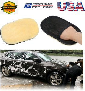 Car Cleaning Glove Auto Wash Clean Sponge Brush Artificial Wool Pad Washing Tool