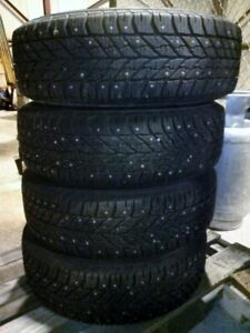 Goodyear Ultra Grip Studded Winter Tires And Rims 195 65r15 On A Chevy Sonic