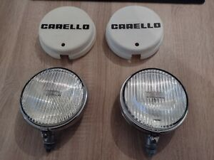 Vintage Chrome Carello Fog Lamp Lights With Covers No Bosch Cibie Hella