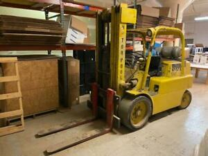 Hyster S150a Riggers Hard Tire Forklift With Triple Mast Excellent Condition Low