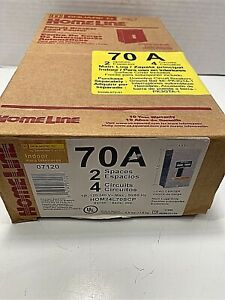 Square D 70 Amp Load Center Circuit Breaker Box indoor Hom24l70rscp New In Bx