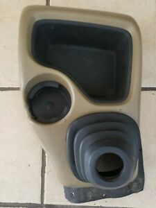 98 04 S10 5 Speed Floor Console Cup Holder Sonoma Gmc Brown Tan With Shift Boot