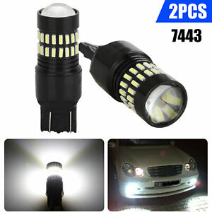2x 48 Smd 7443 7440 White Led Turn Signal Backup Reverse Lights Bulbs Drl Lights