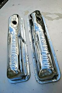 68 69 70 Mustang Fairlane 390 428 Chrome Valve Covers Original Ford Very Nice Ch