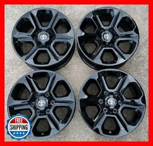 Toyota 4runner Fj Cruiser Oem Factory Wheel Set 17 Rims 75153 Gloss Black s