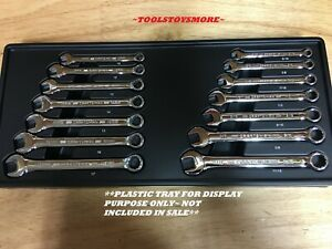 Craftsman 14 Pc Combination Wrench Set Sae Metric Full Polish 17mm 11 16