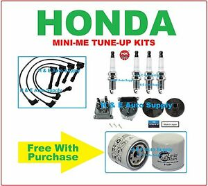 90 91 Accord Tune Up Kits Spark Plugs Wire Set Filter Distributor Cap Rotor