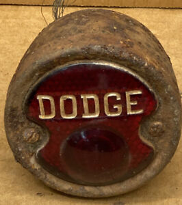 Vintage Red Glass 1920s Dodge Brothers Tail Light Glass Lens