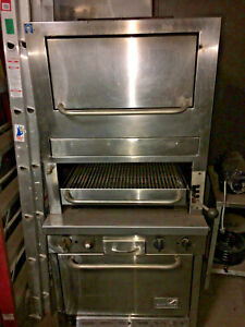 Southbend Gas Infrared Upright Broiler W Oven Warming Oven Refurbished