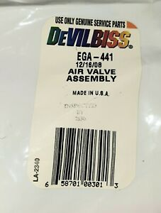 Devilbiss Ega 441 Air Valve Assembly For Ega Detail Pro Spray Gun