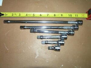 Nos New Snap On 6 Piece 3 8 Drive Knurled Extension Set 206afx Free Shipping