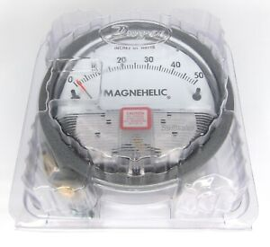 Dwyer Magnehelic 2050 Differential Pressure Gauge 4 Face 0 50 W c Brand New