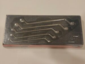 New Snap On Xom605 5pc 12 Point Metric 60 Deep Offset Box Wrench Set 10 19mm