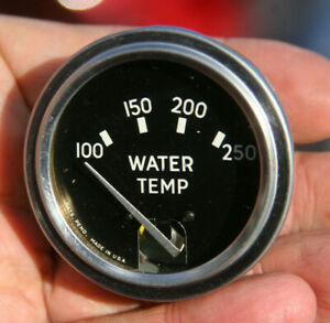 Rochester Vintage Electric Water Temperature 2 Gauge