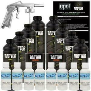 U Pol Raptor Spray On Truck Bed Liner With Spray Gun 8 L Gm White