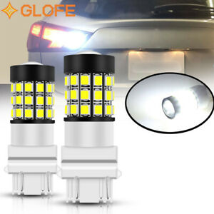 Led 3157 White Strobe Blinking Flashing Reverse Light For Chevy Safety Warning