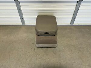 2003 2008 Dodge Ram Center Jump Seat Console Tan Cloth