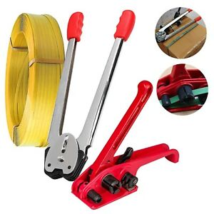 Heavy Duty Pallet Pet Strapping Banding Packing Kit Coil Tensioner Sealer Tool