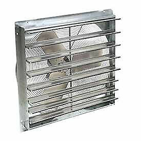 24 Exhaust Ventilation Fan With Shutter Single Speed With Hardware