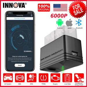 Innova 6000p All System Car Obd2 Scanner Diagnostic Code Reader Abs Srs Tpms