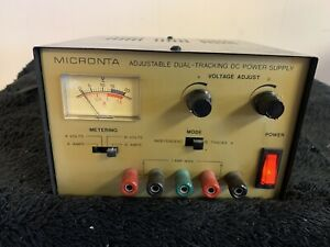 Micronta Adjustable Dual tracking Power Supply 0 15vdc 0 1 Amp Cat no 22 121