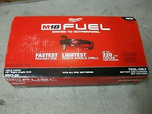 New Milwaukee 2807 20 M18 Fuel Hole Hawg 1 2 In Right Angle Drill tool Only