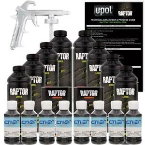 Upol Raptor Spray On Truck Bed Liner With Spray Gun 8l Black Metallic
