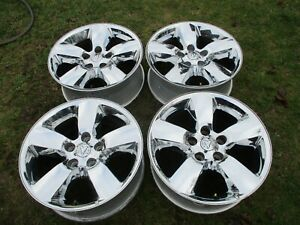 20 Dodge Ram 1500 Oem Factory Chrome Alloy Wheels Rim 2495 13 18 Nice