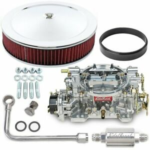 Edelbrock 1406k3 Performer Carburetor Kit Electric Choke Includes 600 Cfm Perfo