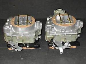 1957 1961 Dual Quad Carter Wcfb Clone Carburetors Corvette Chevy 283 270hp