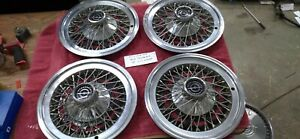 1977 1978 1979 Ford Thunderbird 15 Wire Wheel Covers Hub Caps Set Of 4 P H 727