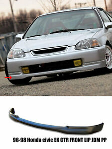 Fits 96 98 Honda Civic Ek 3dr Ctr Type R Front Lip Real Jdm Pp Black
