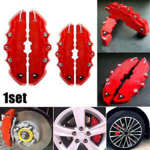 4pcs Red 3d Universal Car Disc Brake Caliper Covers Front Rear Accessories Kit