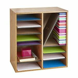 Safco Products Wood Adjustable Literature Organizer 16 Compartment 9422gr Med