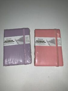 2 Filofax Classic Pastels Pocket Refillable Notebook rose Orch Free Ship
