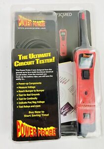 Power Probe 3csred Red Voltmeter Electrical Circuit Tester Diagnostic Too