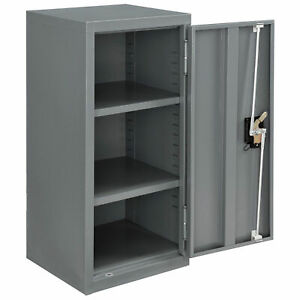 Assembled Wall Storage Cabinet 13 3 4x12 3 4x30 Gray