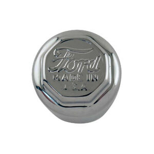 Model T Ford Hub Cap Set For Wood Wheels Chrome Ford Script 16 54210 1