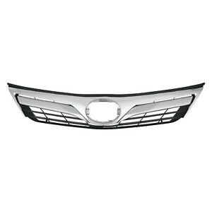 To1200343 New Front Upper Grille Chrome For Toyota Camry Le Xle 2012 To 2014