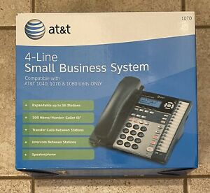At t 4 line Small Business System Phone 1080 Compatible Black In Box