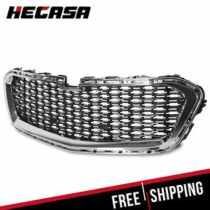 New Front Center Grille Grill Fits 2014 2015 Chevrolet Malibu 14 15 Silver Black
