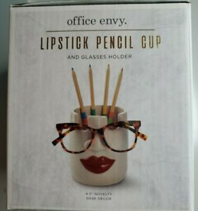 Office Envy Lipstick Pencil Cup And Glasses Holder 4 5 Novelty Desk Decor New